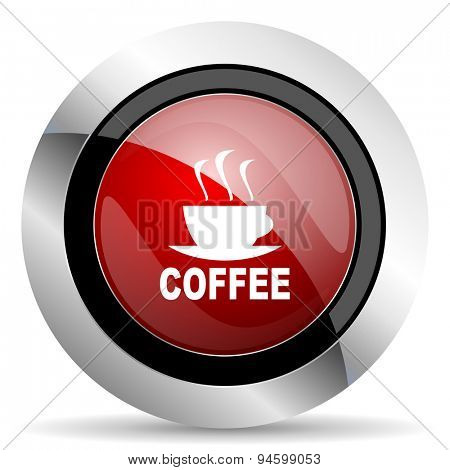 espresso red glossy web icon original modern design for web and mobile app on white background