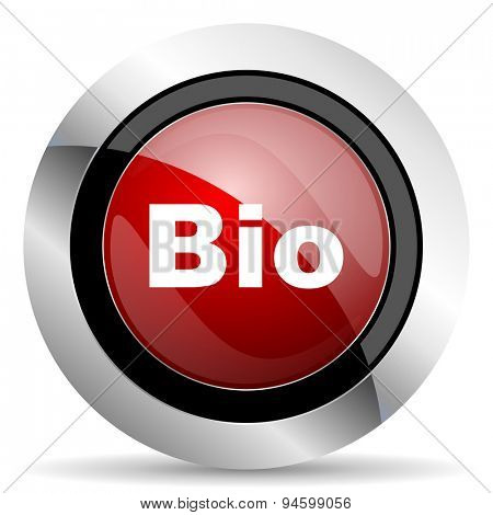 bio red glossy web icon original modern design for web and mobile app on white background