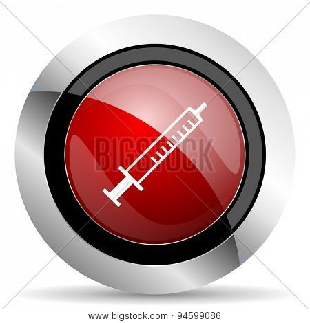 medicine red glossy web icon original modern design for web and mobile app on white background