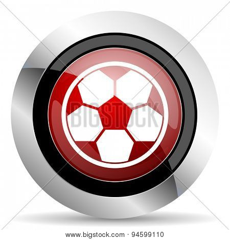 soccer red glossy web icon original modern design for web and mobile app on white background