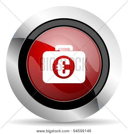financial red glossy web icon original modern design for web and mobile app on white background
