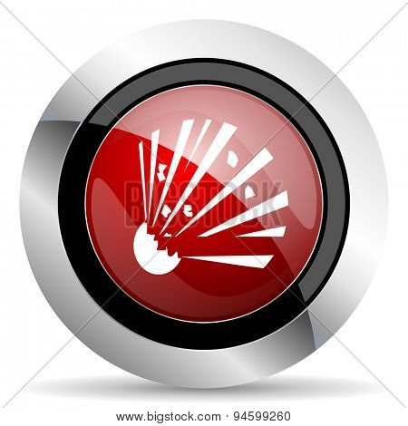 bomb red glossy web icon original modern design for web and mobile app on white background