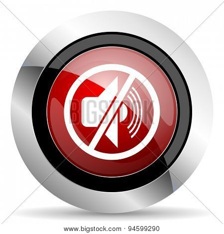 mute red glossy web icon original modern design for web and mobile app on white background