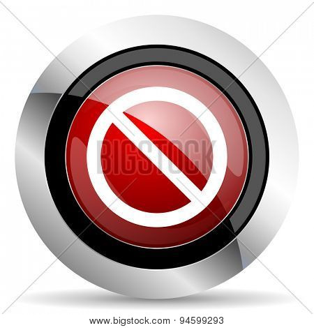 access denied red glossy web icon original modern design for web and mobile app on white background