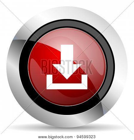 download red glossy web icon original modern design for web and mobile app on white background