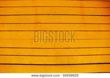 Yellow wooden planks background