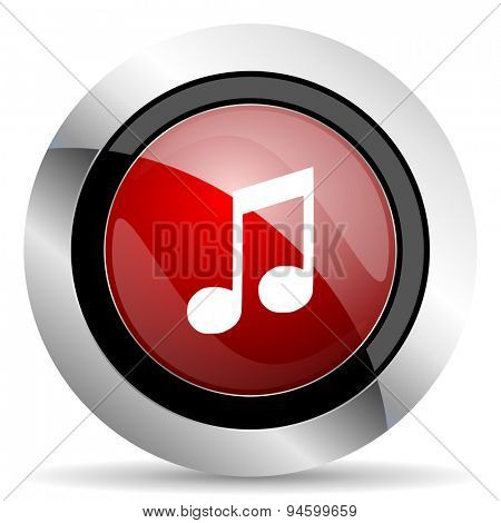 music red glossy web icon original modern design for web and mobile app on white background
