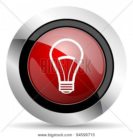 bulb red glossy web icon original modern design for web and mobile app on white background