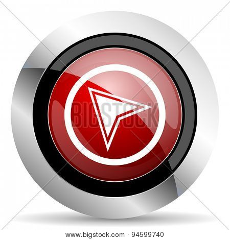 navigation red glossy web icon original modern design for web and mobile app on white background