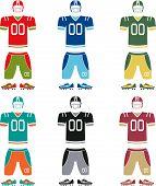 American football uniform poster