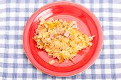 foto of hash  - Some Hash browns with ham and cheese - JPG