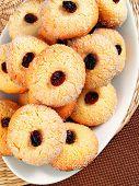 image of hazelnut  - Homemade cookies with hazelnuts on a plate - JPG