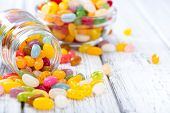 picture of close-up shot  - Colorfull Jelly Beans  - JPG