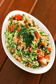 picture of quinoa  - Quinoa tabouleh in a bowl served on the table - JPG