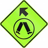 foto of veer  - An Australian warning traffic sign  - JPG