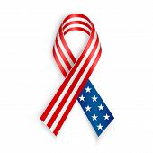 picture of patriot  - American Flag Ribbon - JPG