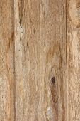 foto of abrasion  - Texture of old plank with abrasion old paint and gnarl - JPG