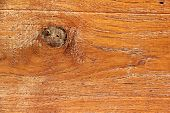 image of abrasion  - Texture of old plank with abrasion old paint and gnarl - JPG
