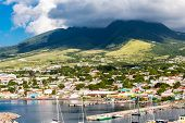 pic of off-shore  - Boats off the beautiful coast of St Kitts - JPG