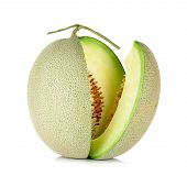 picture of cantaloupe  - cantaloupe melon isolated on the white background - JPG