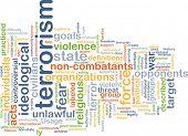 foto of revolutionary war  - Background concept wordcloud illustration of terrorism - JPG