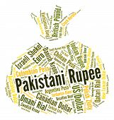 pic of pakistani  - Pakistani Rupee Indicating Worldwide Trading And Foreign - JPG