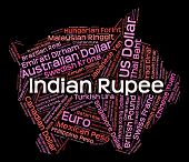 picture of indian currency  - Indian Rupee Indicating Forex Trading And Text - JPG