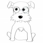 picture of schnauzer  - Hand painted Schnauzer for adv or others purpose use - JPG