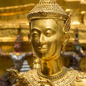 foto of guardian  - Demon guardian at Wat Phra Kaew of Bangkok - JPG