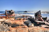 foto of shipwreck  - Shipwreck along the coast of the Cape of Good Hope South Africa - JPG