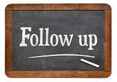stock photo of follow-up  - Follow up sign - JPG
