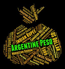picture of pesos  - Argentine Peso Indicating Currency Exchange And Pesos - JPG
