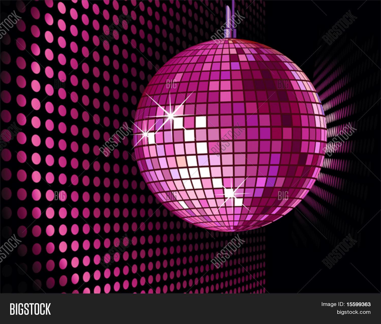Vektor Hintergrund Mit Disco Kugel Für Valentinstag Party