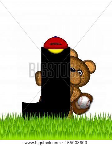 Alphabet Teddy Baseball J