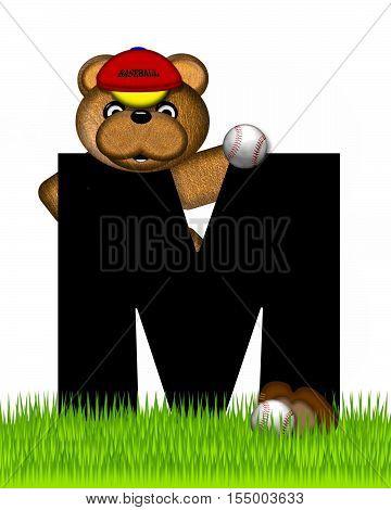 Alphabet Teddy Baseball M