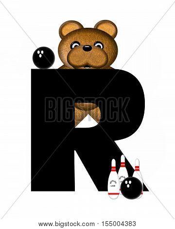 Alphabet Teddy Bowling R