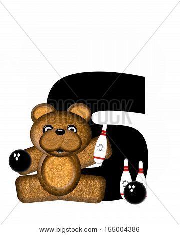 Alphabet Teddy Bowling S