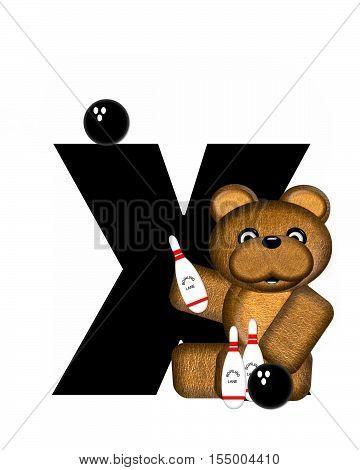 Alphabet Teddy Bowling X