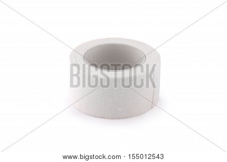 Construction tape seams isolated on white background. Photo with clipping path