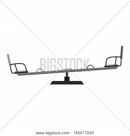 Swing balancer icon. Gray monochrome illustration of swing balancer vector icon for web