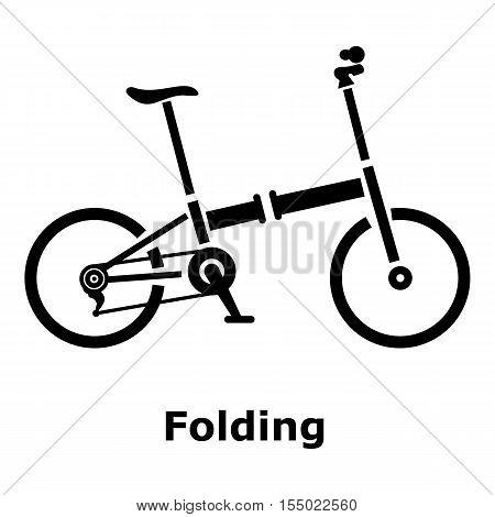 Folding bike icon. Simple illustration of folding bike vector icon for web