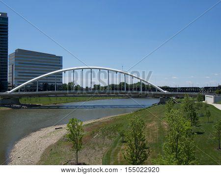 Main St Bridge on the Scioto Mile in Columbus Ohio