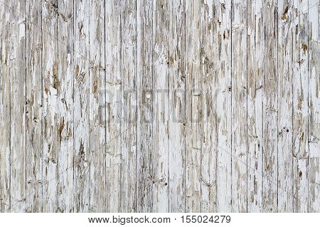 Old White Weathered Wooden Background No. 7