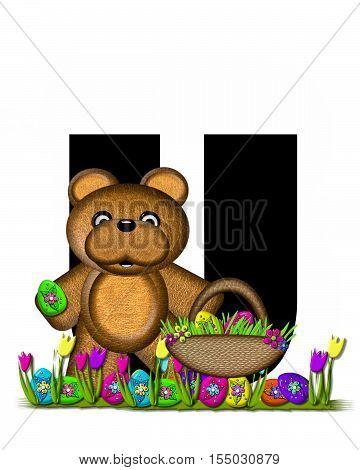 Alphabet Teddy Easter Egg Hunt U