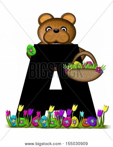 Alphabet Teddy Easter Egg Hunt A