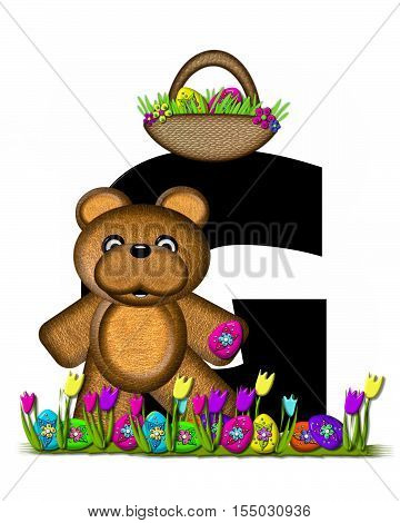 Alphabet Teddy Easter Egg Hunt G