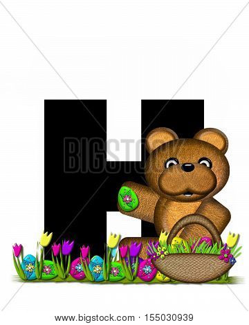 Alphabet Teddy Easter Egg Hunt H
