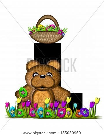 Alphabet Teddy Easter Egg Hunt L