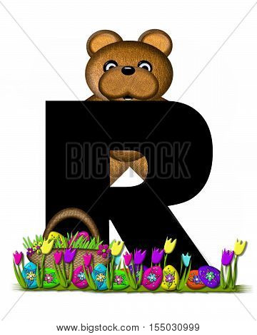 Alphabet Teddy Easter Egg Hunt R