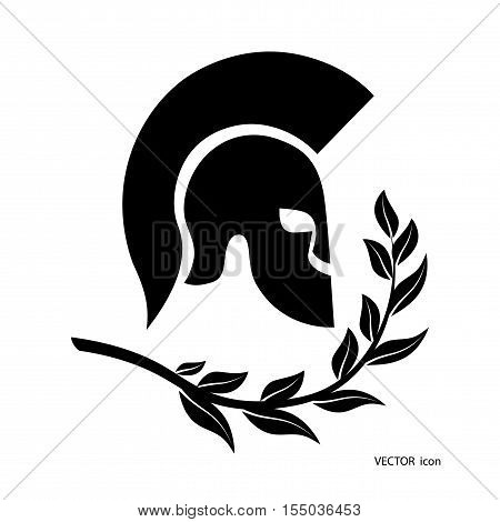 On the image presented icon a Spartan helmet